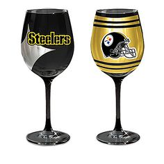 Pittsburgh Steelers Black And Gold Wine Glass Collection
