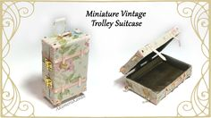 Miniature Vintage Suitcase - Tutorial - Published on May 12, 2016 Hi guys! Today's project is this miniature doll trolley suitcase ^^ I went for a floral vintage look, but you can change it up by using different fabric and decorations. The base of the suitcase is made from popsicle stick, so it's easy to work with and don't require a ton of strange materials. I made this to fit a 1:12 scale doll, but you can make it to fit any doll – the wood base make it sturdier than if you make it with…