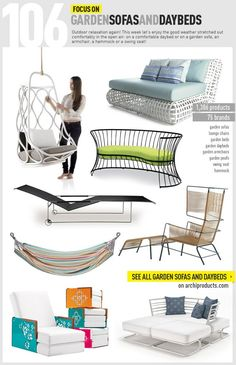 Archiproducts FOCUS ON | #garden sofas and daybed - more than 1,300 products for next #summer www.archiproducts.com/fb/focus/150661/focus-106.html