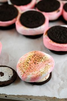 "Peppermint S'moreO's…no joke. Candy Cane Oreos, peppermint marshmallows...one's breath will be ""kissable"" for a long time! Hehe."