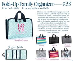 Thirty-One Fold-Up Family Organizer Spring/Summer 2018