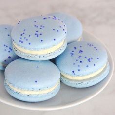 Light blue macaroons. Perfect for a stylish 30th birthday party!