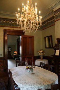 Flavel House - dining room #bradburywallpaper