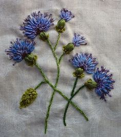 ♒ Enchanting Embroidery ♒ thistles embroidery