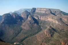 Blyde River Canyon, South Africa   The Three Rondavels promontory of theDrakensbergescarpment