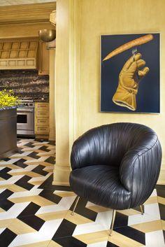 Souffle chair in black  by K Wearstler