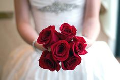 #Beautiful #Little #Bouquet of #six #red #beautiful #roses, which describe #passion and #precious #love, for a #unforgettable #wedding. #bouquetofroses #littlebouquet #flowers #redflowers #redroses #rosesoflove #passionate #passionatelove #true #truelove #feelings #strongfeelings #whitedress #happiness #photography #nature #inspiration #joy #petals #thorn 🌹