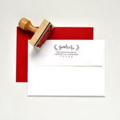 Custom Return Address Stamp with Hand by InklingDesignStudio, $25.00