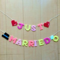 JUST♡MARRIED♡ garland perler beads by *maco*