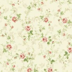 My house is going to have old-school floral wallpaper!
