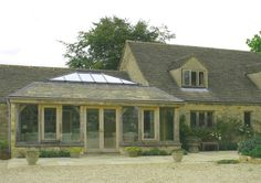 018 Green Oak Orangery on listed house in the Cotswolds