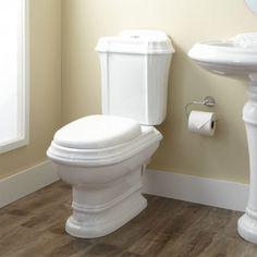 Julian Dual-Flush European REAR OUTLET Toilet - Two-Piece - Elongated - White