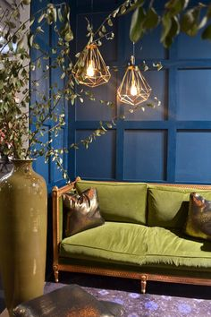 Pea Blue Interiors Dark Home Decor Small House Decorating Trending Paint Colors Decoration