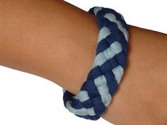 Bracelets – Funny ME Navy & Airy Blue bracelet – a unique product by mebyhand on DaWanda