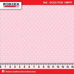 Estampa Mini Pois (Poá) Rosa | Desenho GOLD POIS 188PFT . Disponibilidade de Larguras e Comprimentos sob consulta!