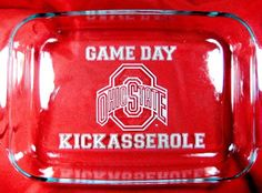 Game Day Kickasserole Ohio State Personalized by LaserScribeIt: