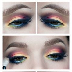 multicolor eye makeup for brown eyes