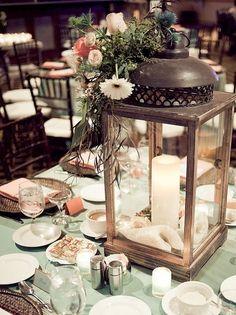 Lantern centerpieces Nautical Vintage Admiral Kidd Club wedding-ideas
