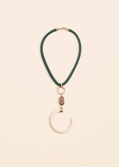 Horn bead necklace | MANGO