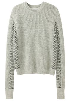 Cropped Mixed Stitch Pullover by 3.1 Phillip Lim
