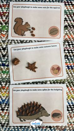 A set of colourful playdough mats featuring some lovely autumn themed activities. Just laminate to create re-useable playdough mats! This is a great sensory EYFS activity for fall! #twinkl #twinklparents #fall #autumn #sensoryplay #playdough #EYFS