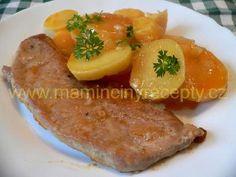 Řízky na leču – Maminčiny recepty Pork, Meat, Kale Stir Fry, Pork Chops