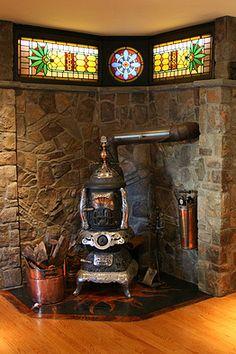 Modern Victorian fireplace