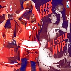 Russell Westbrook joins Bob Pettit as the only players to win All-Star MVP in back-to-back years!