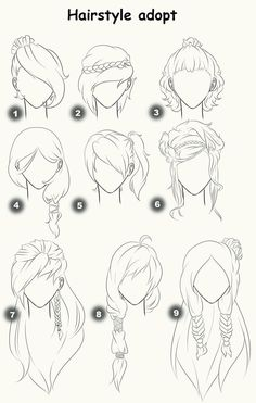 Hairstyle adopts (CLOSED) by x3misteryYuyux3.d... on @deviantART