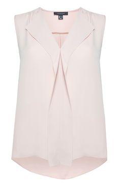 Primark - Blusa cor de rosa sem mangas com decote em cascata