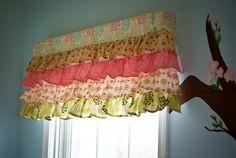 precious ruffled curtains ...shabby chic