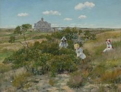 William Merritt Chase (1849–1916), The Big Bayberry Bush, c. 1895. The Parrish Art Museum, Southampton, New York, Littlejohn Collection. © The Parrish Art Museum.