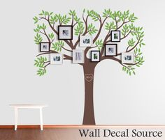 Family Tree Decal  Vinyl Wall Tree Decal  by WallDecalSource, $97.00