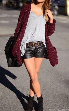 cardigan short negro
