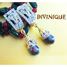 Black shiny bead ad earrings - Online Shopping for Earrings by DIVINIQUE JEWELRY