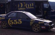 Subaru Prodrive 555 Rally Team beim Test - Impreza Gr. A