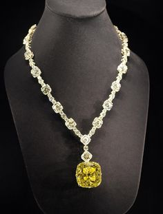 The 45 Most Gorgeous, Famous Gems of All Time - The Cut The Tiffany Diamond In 1877, Tiffany & Co.'s iconic 128-carat yellow diamond was found in South Africa. It adorned Audrey Hepburn's neck while she was doing publicity photos for Breakfast at Tiffany's and, today, it's on permanent display in the New York Fifth Avenue store.