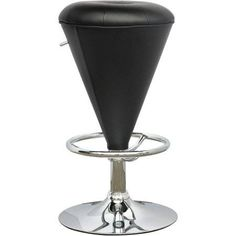 CorLiving Cone Shaped Adjustable Barstool, Multiple Colors, Black