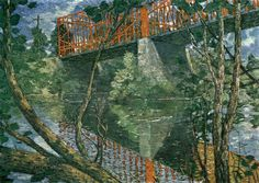The Red Bridge, J. Alden Weir (1895)