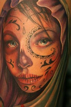 Day of the Dead Girl Detail by ~Phedre1985