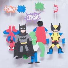 Super Hero Comics Baby Mobile - Wolverine, Batman, Superman, Spiderman, Savage Dragon, DC Comics, Marvel Comics
