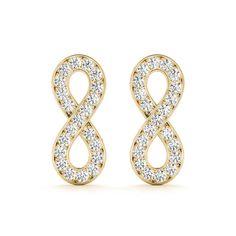 Signature Collection 0.20ctw. Diamond Dangle/Drop Infinity Figure 8 Earrings Pair - D&D Jewelry Walnut Creek CA Platinum Earrings, Fancy Earrings, Sapphire Earrings, Screw Back Earrings, Wire Earrings, Chandelier Earrings, Gemstone Earrings, Earrings Handmade, Walnut Creek