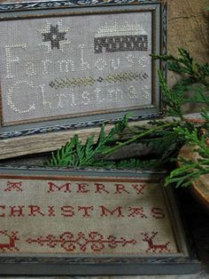 Pineberry Lane  Farmhouse Christmas and Redwork Christmas- Love them both!