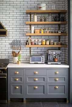 Love the cabinet with the brass handles on this pic!   Curried Butternut Squash Soup