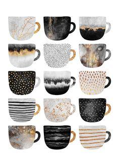 Coffee Cups Plakat