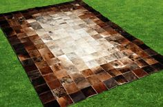 patchwork leather rug | New-Cowhide-Rug-Leather-Animal-Skin-Patchwork-Area-Carpet