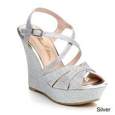 BLOSSOM BAJA-3 Women's Glitter Strappy Criss Cross Platform Wedge Dress Sandals, Color:SILVER, Size:5.5 Blossom http://www.amazon.com/dp/B00JWJ6SIS/ref=cm_sw_r_pi_dp_JoCJtb1YFQM4EY9X