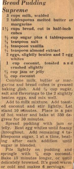 Bread Pudding Supreme #recipe
