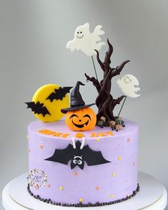 Halloween cake design idea.