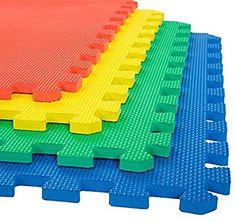Stalwart Interlocking Multi-color EVA Foam Floor Mats (Pack of Gym Flooring Tiles, Garage Floor Tiles, Foam Flooring, Tile Floor, Yoga Wheel, Yoga Fitness, Home Gym Basement, Puzzle Mat, 6 Pack